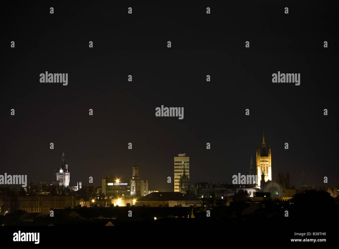 Aberdeen bei Nacht