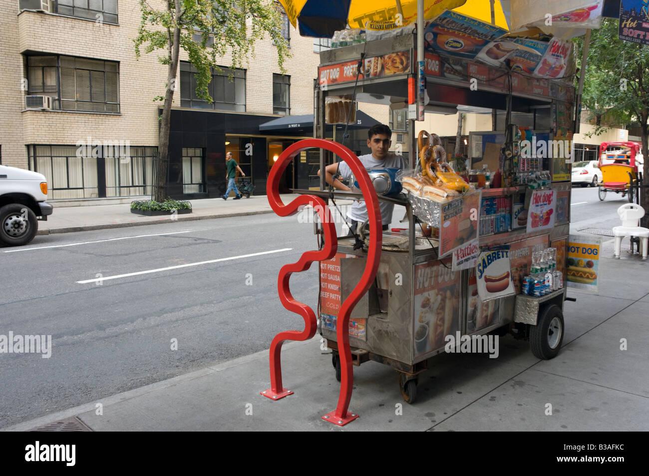 David Byrne-Heck-Fahrradträger mit dem Titel 'Das MOMA' © Stacy Walsh Rosenstock Stockbild