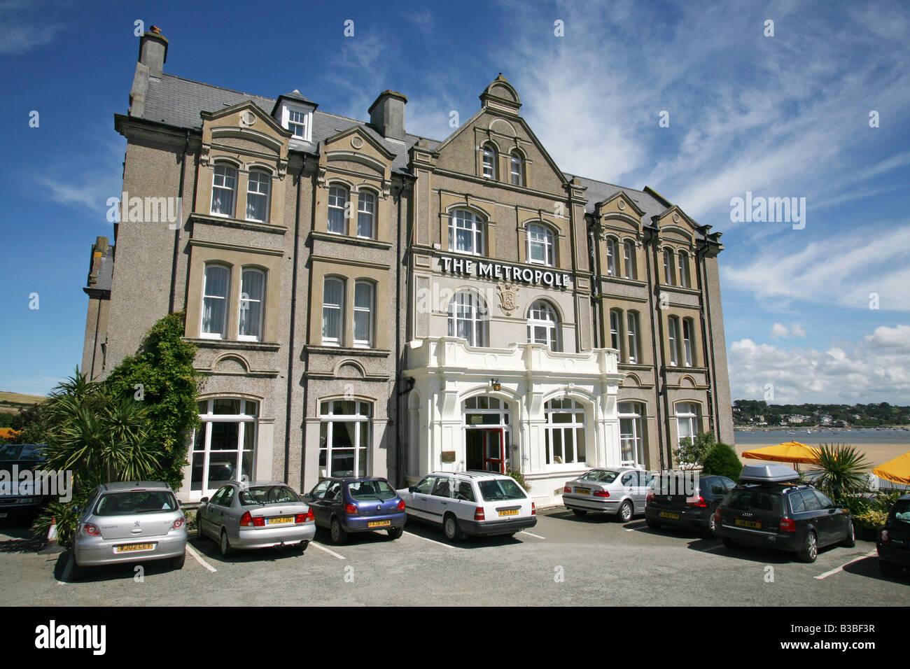 Das Metropole Hotel, Padstow, Cornwall Stockbild