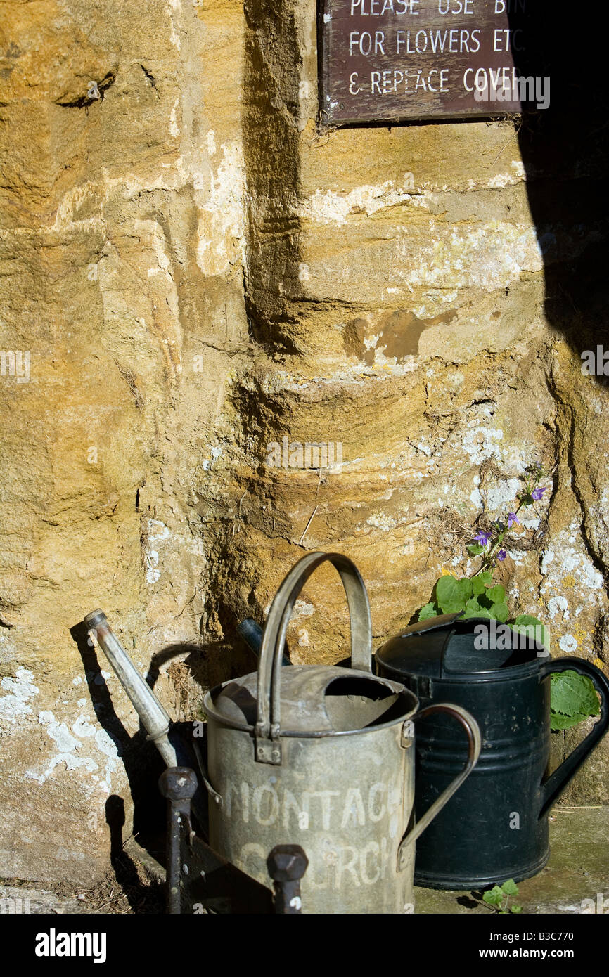 England, Somerset, Montacute. Montacute ist ein altes Dorf angrenzenden Schinken-Hügel, dessen goldene Stein Stockbild