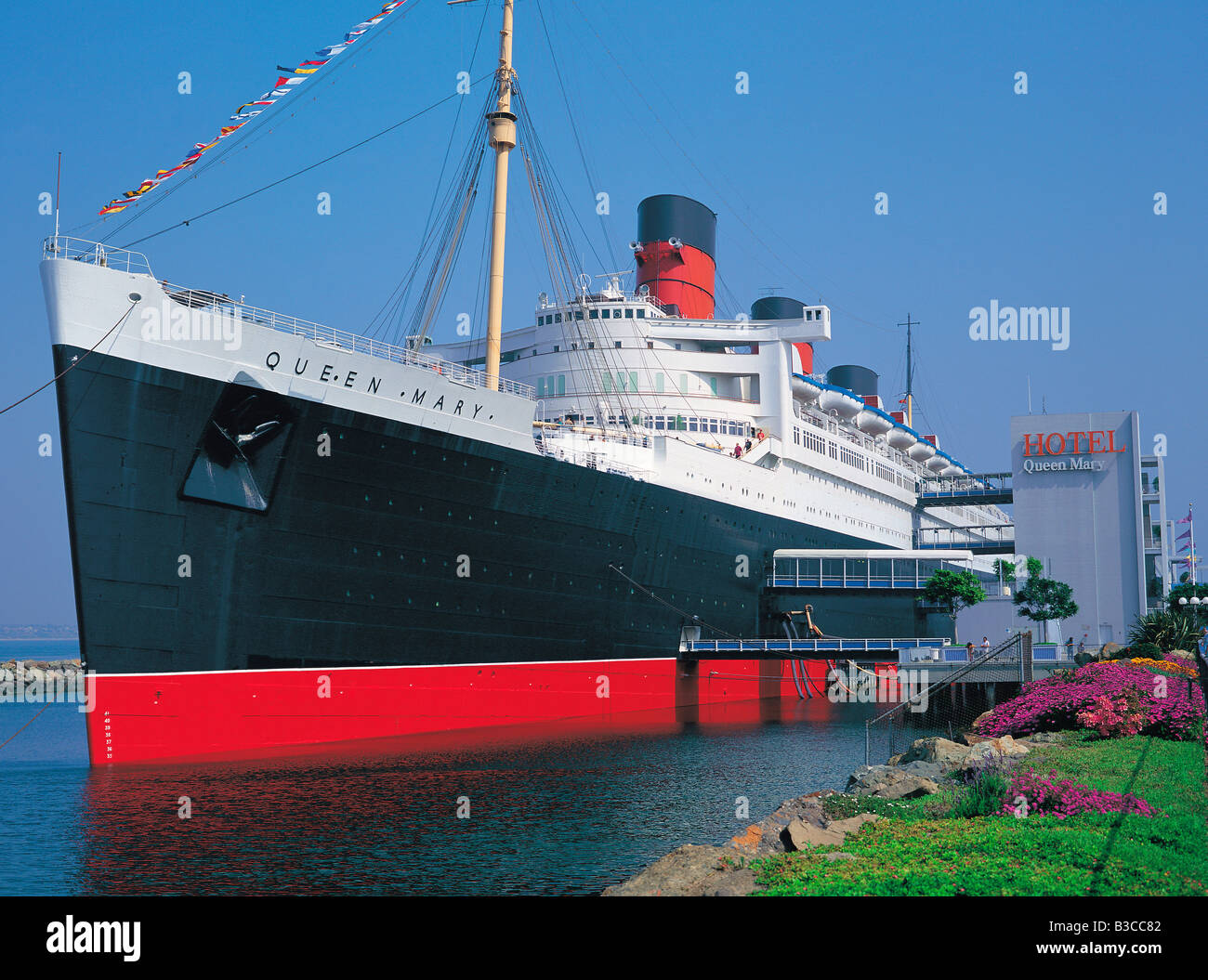 Queen Mary Schiff Schwimmenden Hotel In Los Angeles Kalifornien