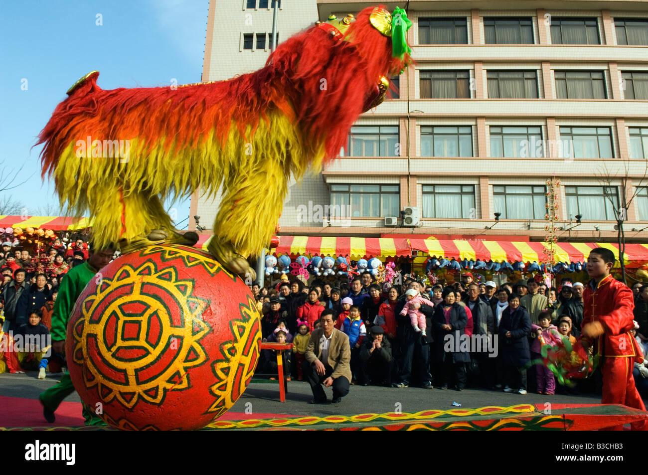 China, Peking. Beiputuo Tempel und Film Studio. Chinesische Neujahr ...