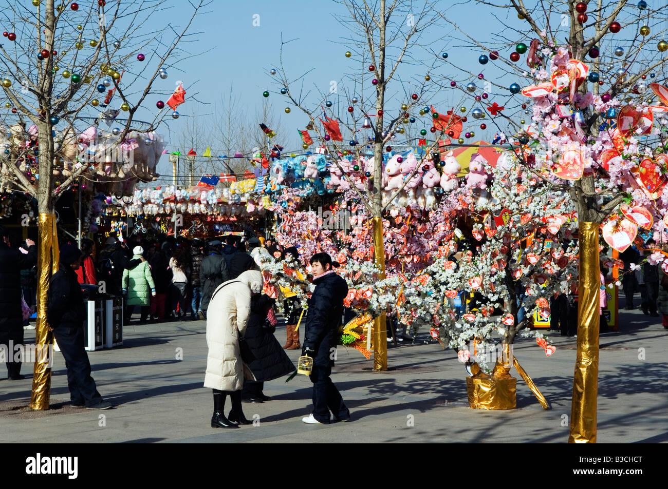 China, Peking. Chinesische Neujahr Frühlingsfest - Valentine love ...