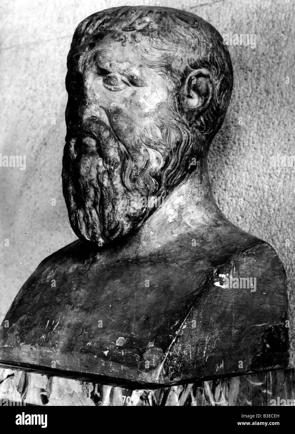 Platon, 427 - 347 v. Chr., griechische Philosoph, Büste, Louvre, Paris, Frankreich, Stockfoto