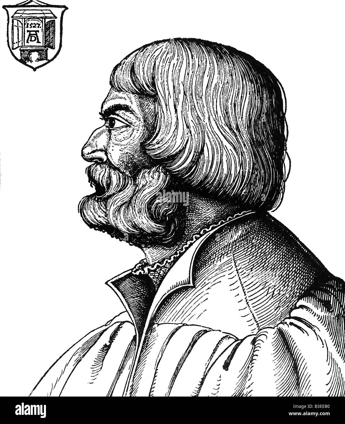 Dürer, Albrecht, 21.5.1471 - 6.4.1528, deutscher Maler, zeitgenössisches Porträt, 56, Holzschnitt Stockbild