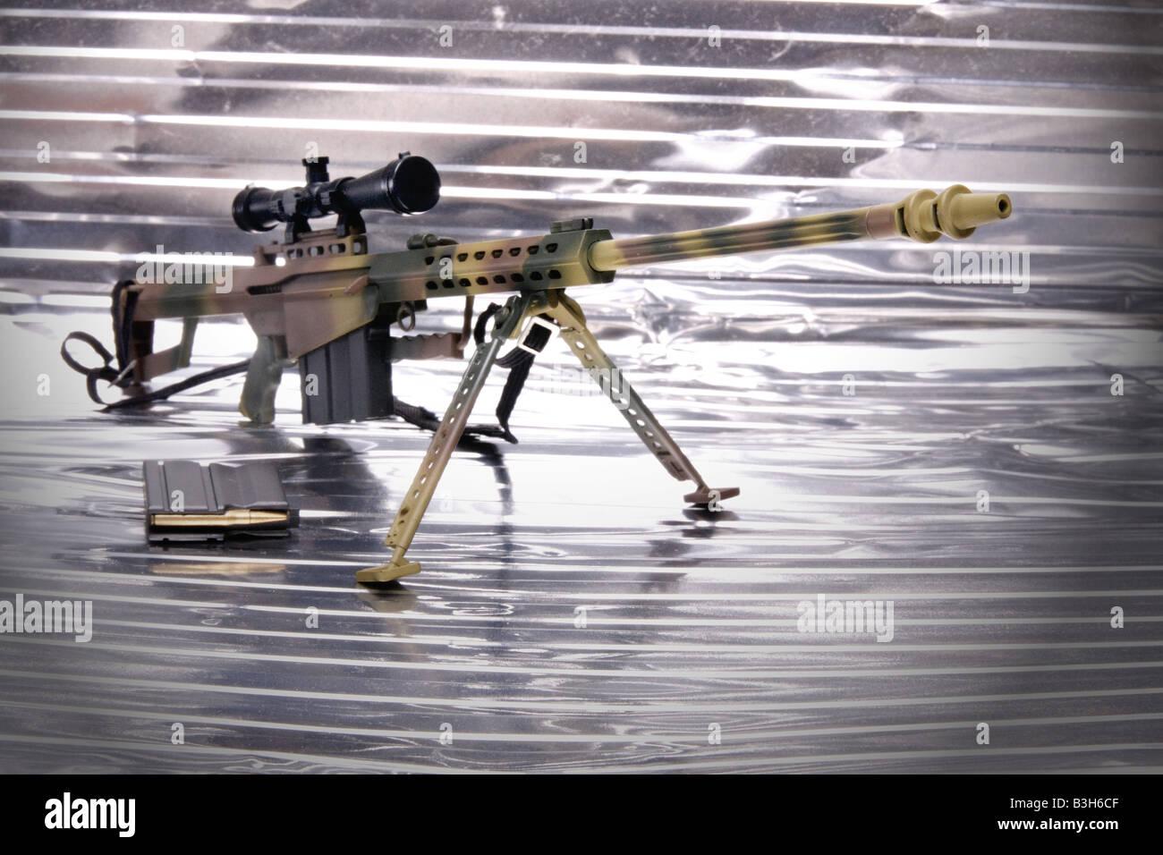 M85 Sniper Gewehr präzise genaue präzise Schnepfe Stockbild