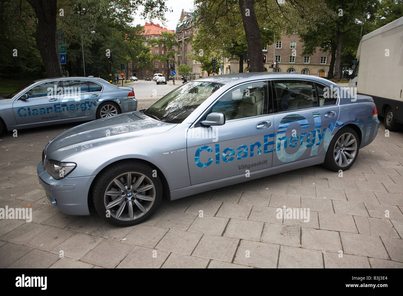 Fahrzeuge Auto saubere Energie Auto grün Wasserstoffauto Stockbild