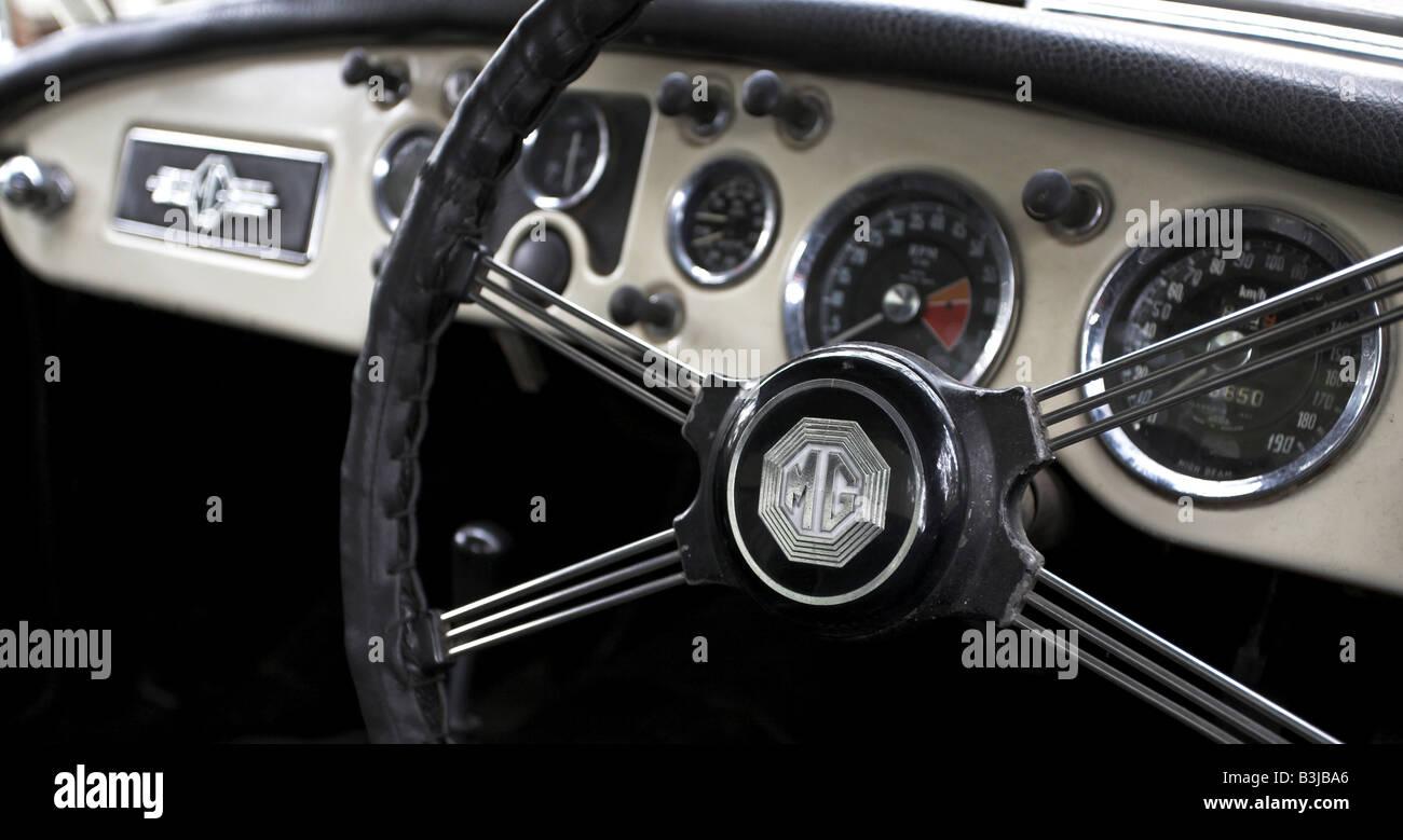 MGA-Lenkrad Stockbild