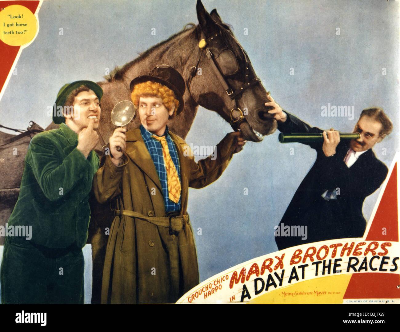 Ein Tag Bei Den Rennen 1937 Mgm Film Mit Den Marx Brothers Stockfoto