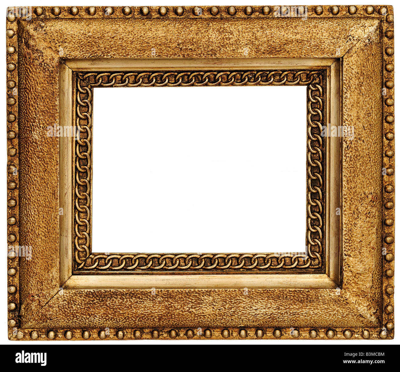 Gold quadratische Bilderrahmen Stockbild