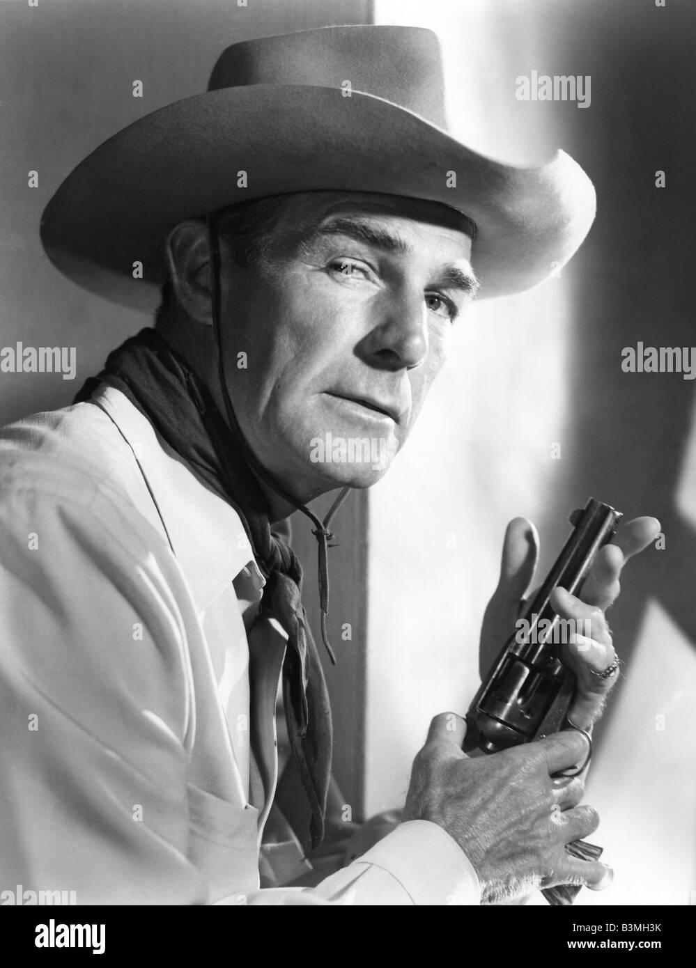 RANDOLPH SCOTT US Schauspieler, in der Regel in Western Stockbild