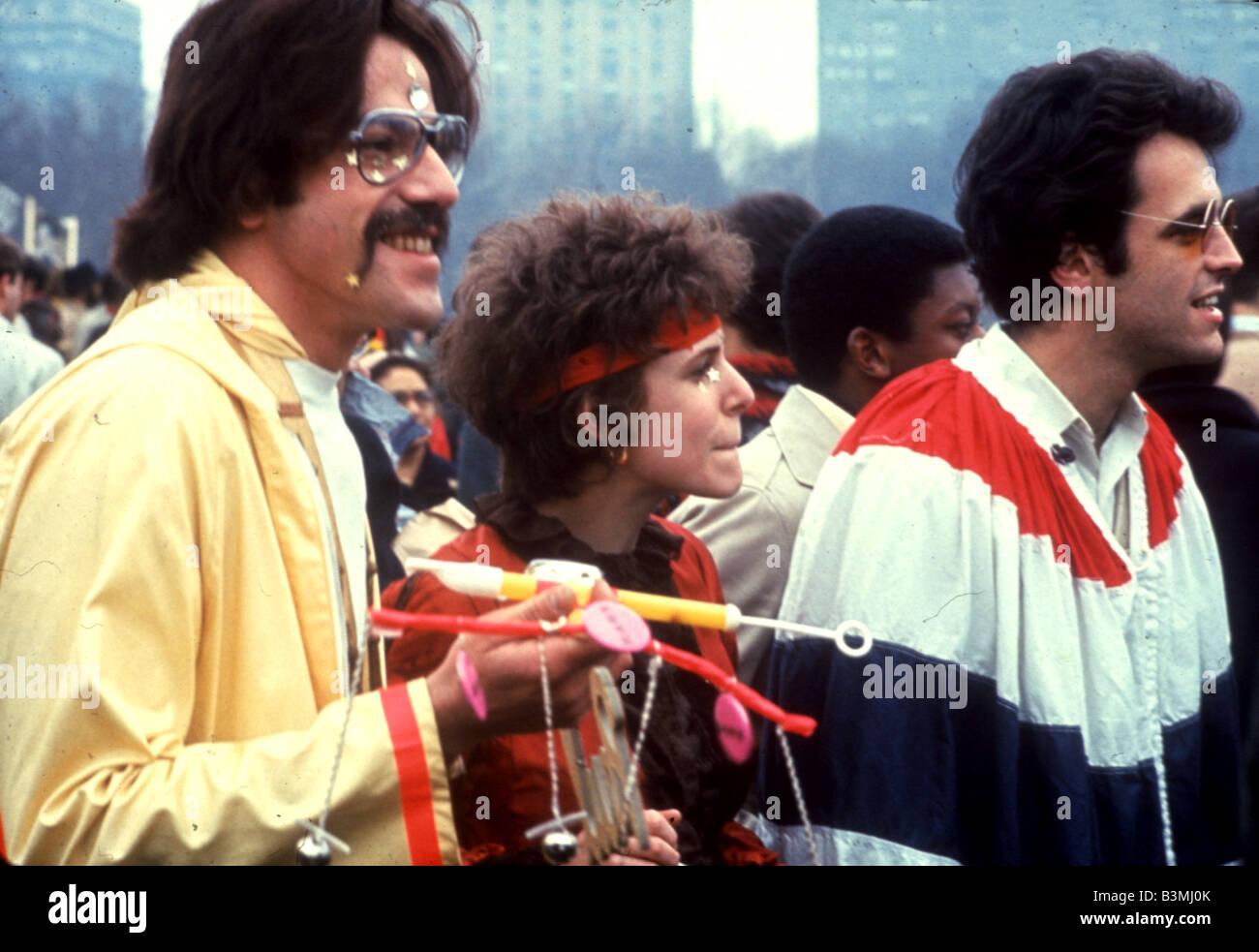 FLOWER-POWER-treffen in San Francisco 1967 Stockbild