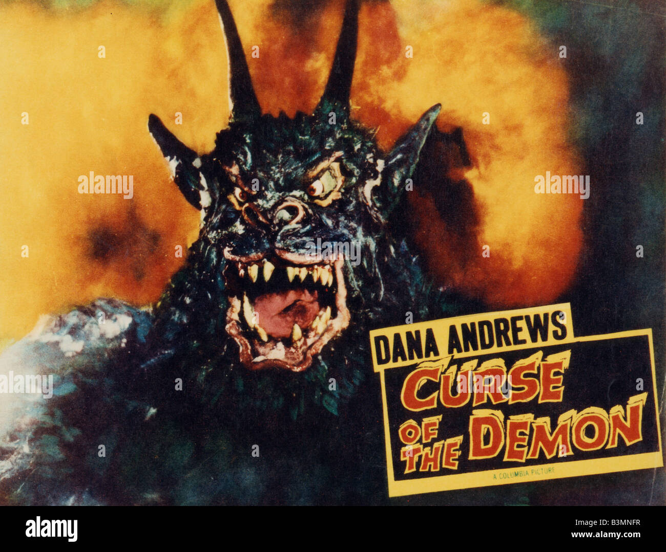 Fluch der Dämon aka Nacht des Dämons - 1957 Columbia film Stockbild
