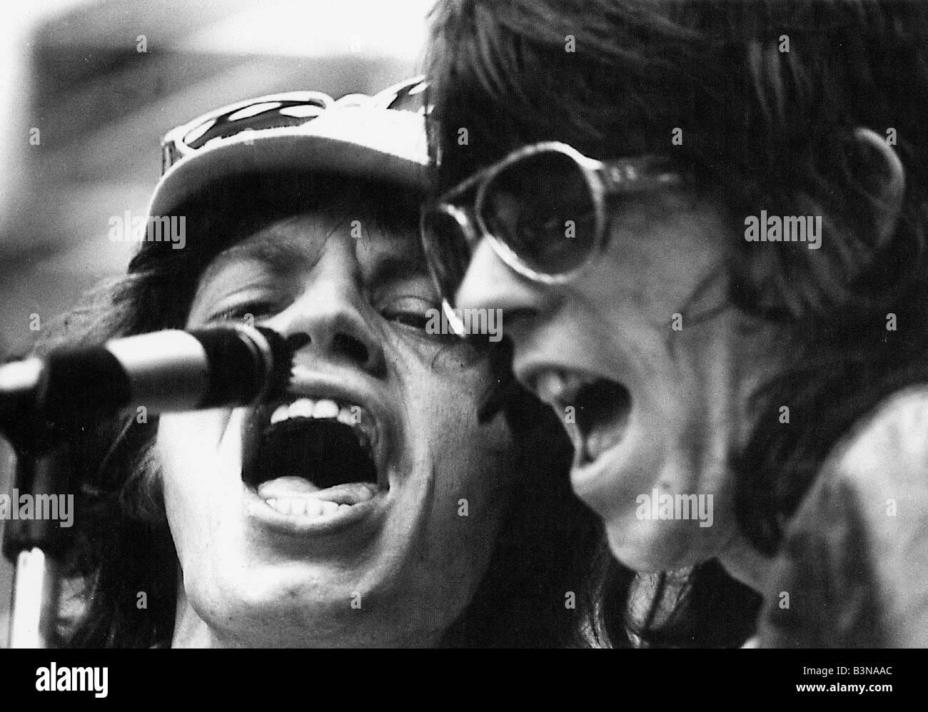 ROLLING STONES Mick Jagger und Keith Richards ca. 1980 Stockbild