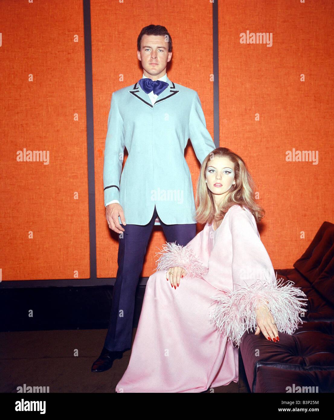 60er Jahre Mode Der 1960er Jahre Kleidung Mann In Babyblau Jacke