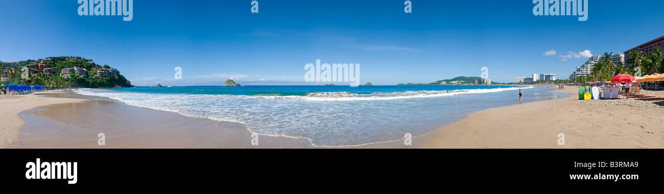 Strand von Ixtapa/Zihuatanejo eine geplante Erholungsgebiet in der Nähe von Zihuatanejo Stockbild