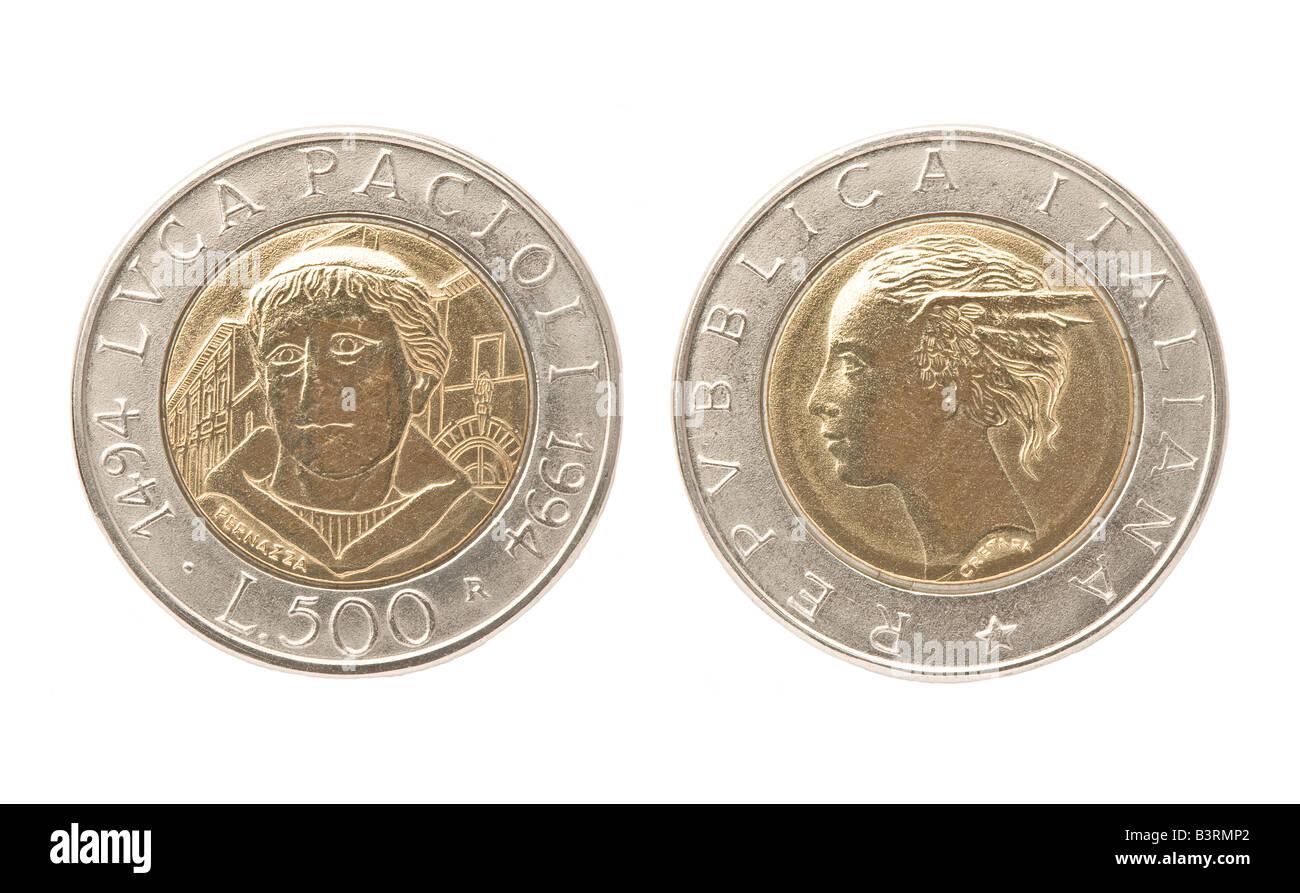 Italienische 500 Lire Münze 1994 Stockfoto Bild 19575530 Alamy