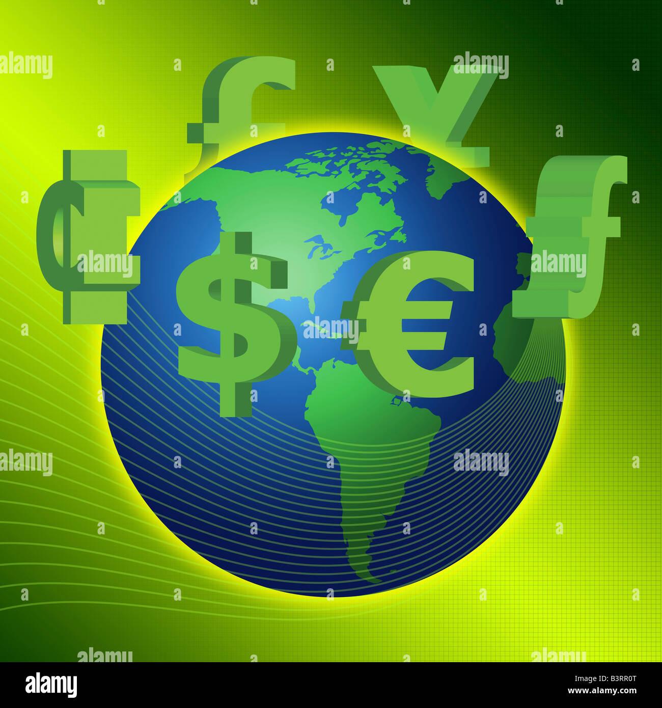 Weltwirtschaft Stockbild
