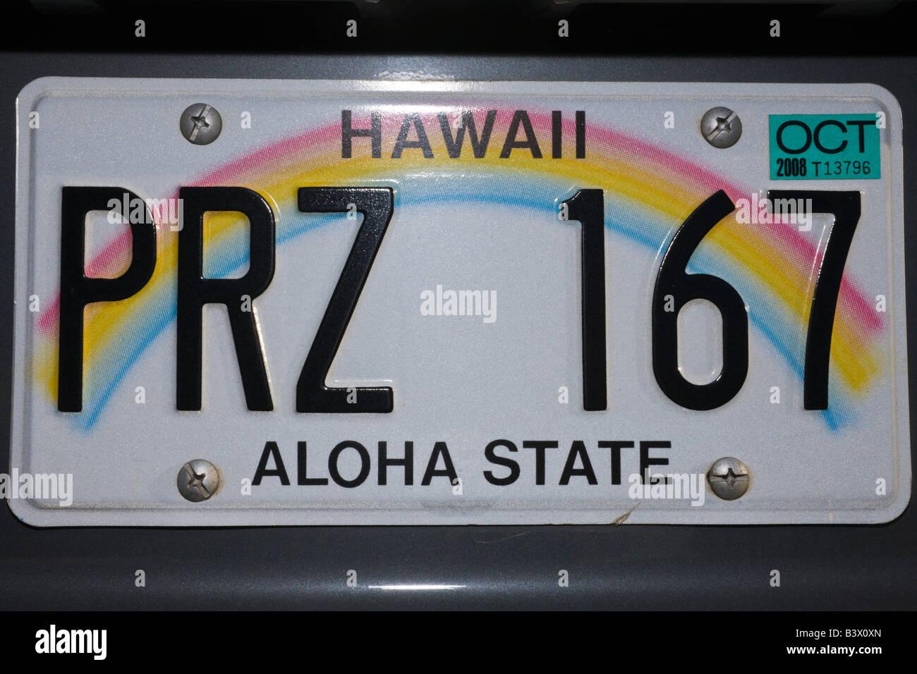 Hawaiian Tag: Hawaii Car License Plate Stockfotos & Hawaii Car License