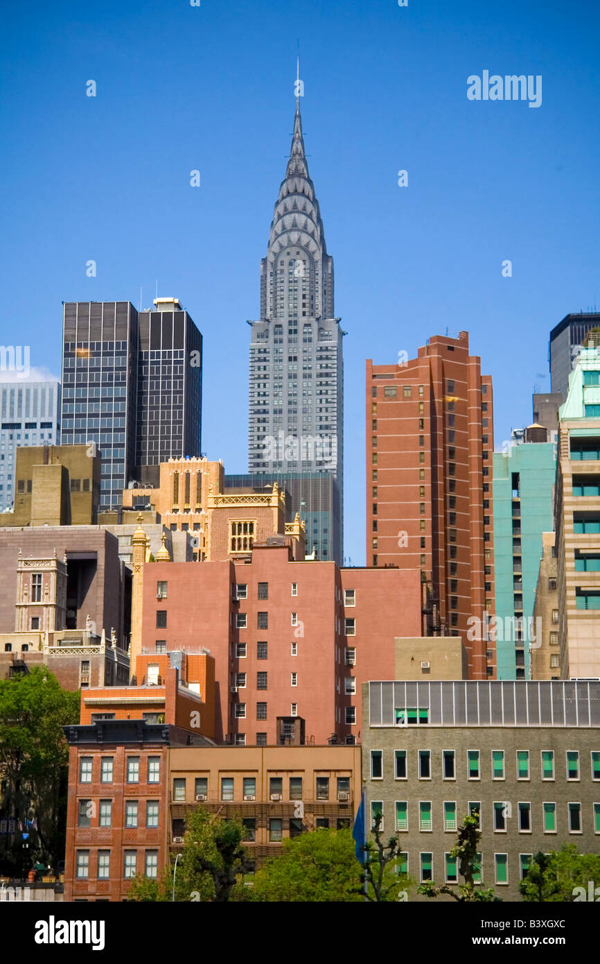 Chrysler Gebäudes in New York City Skyline Stockbild