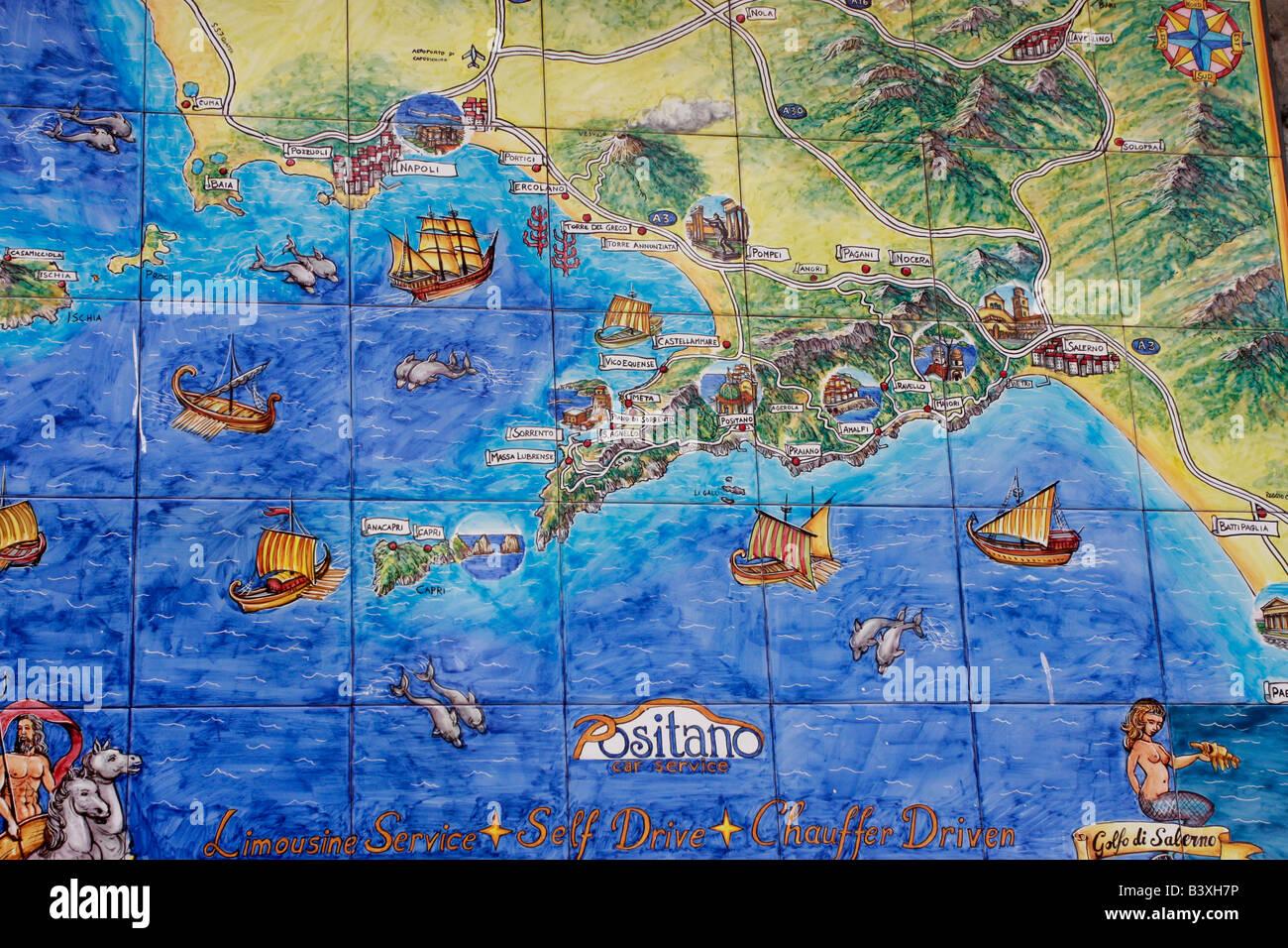Keramische fliesen karte von positano amalfik ste for Keramische fliesen