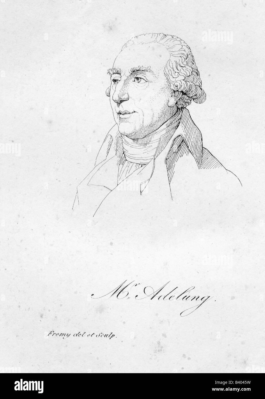 Adelung, Johann Christoph, 8.8.1732 - 10.9.1806, deutscher Wissenschaftler, Porträt, Kupferstich von Jacques Stockbild