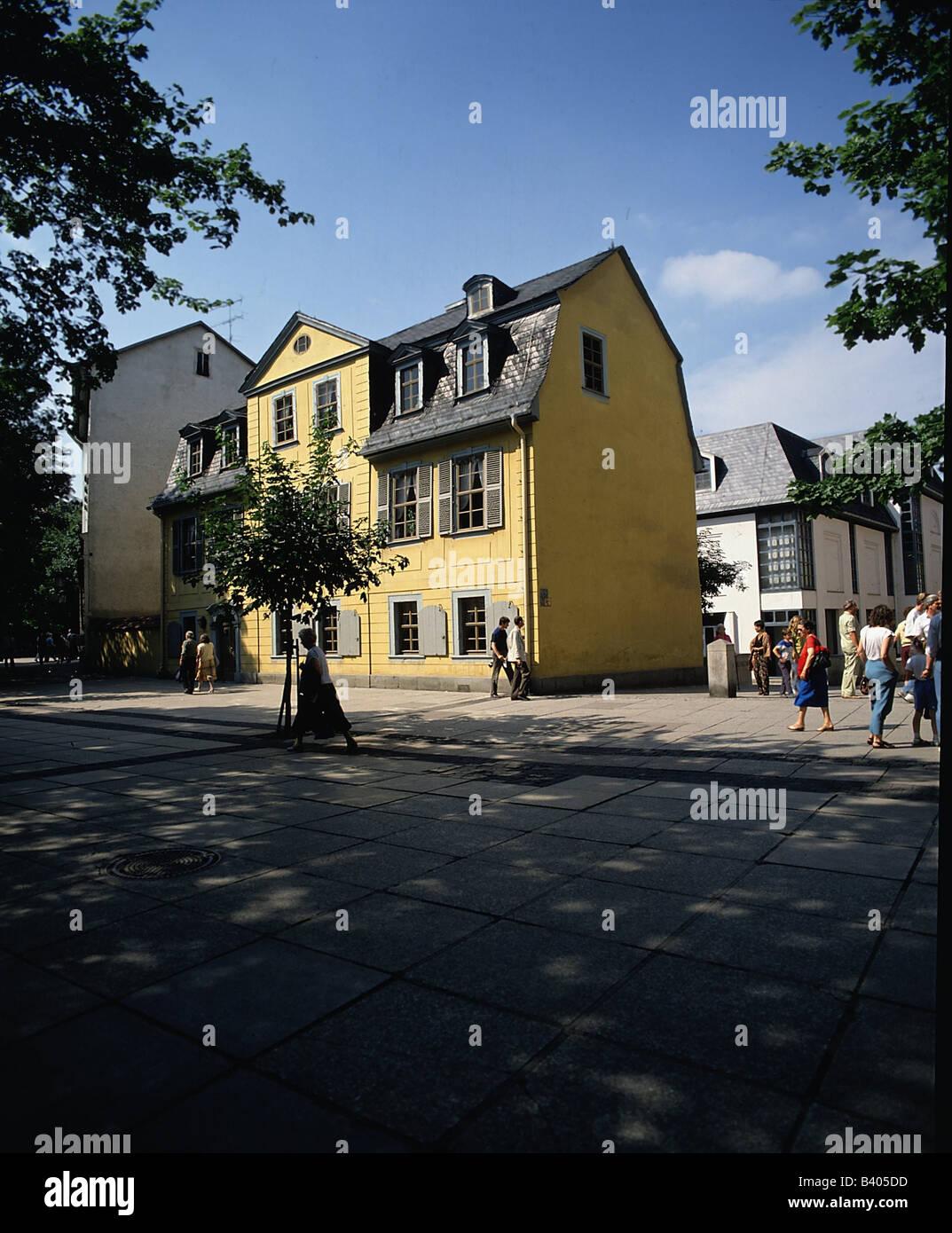 Geographie Reisen Deutschland Thuringen Weimar Gebaude