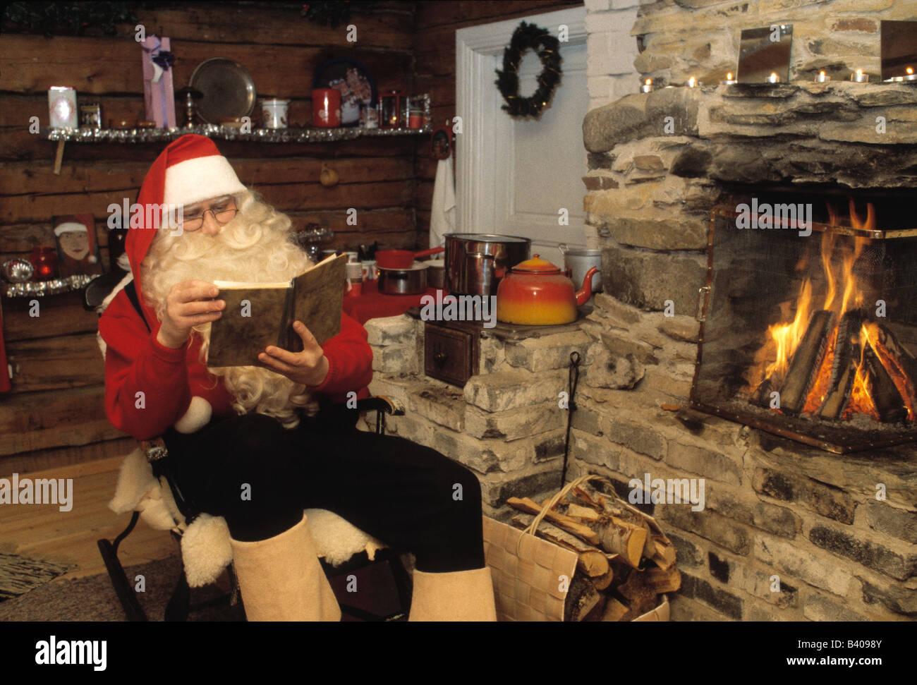 """Weihnachtsmann """"Santa Claus"""", Lappland, Finnland Stockbild"""