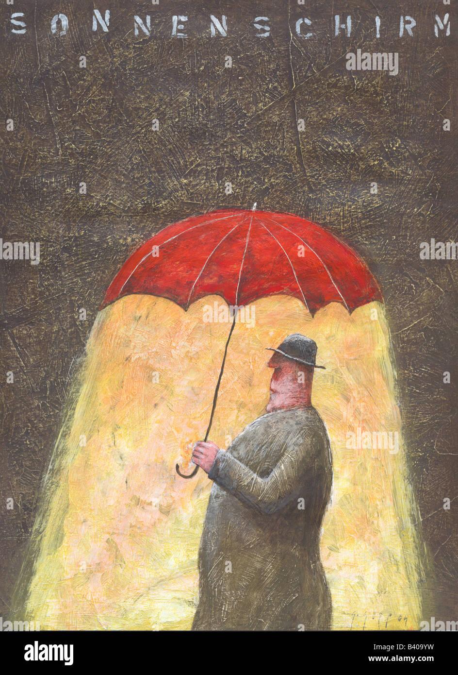 Sonnenschirm Regenschirm Stockbild