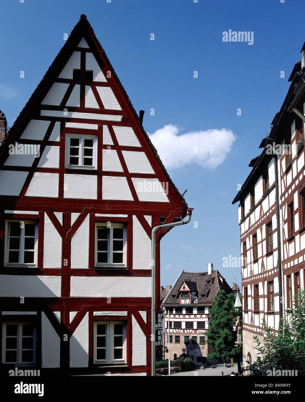 Dürer, Albrecht (1471-1528), deutscher Maler und Kupferstecher, sein zu Hause und am Arbeitsplatz in Nürnberg, Stockbild