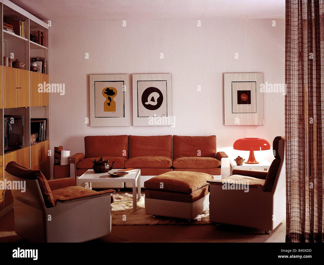 Uberlegen Möbel, Wohnzimmer, 1970er Jahre, 70er Jahre, Historisch, Historische, Möbel,  Dekoration, Couch, Tisch, Sessel,