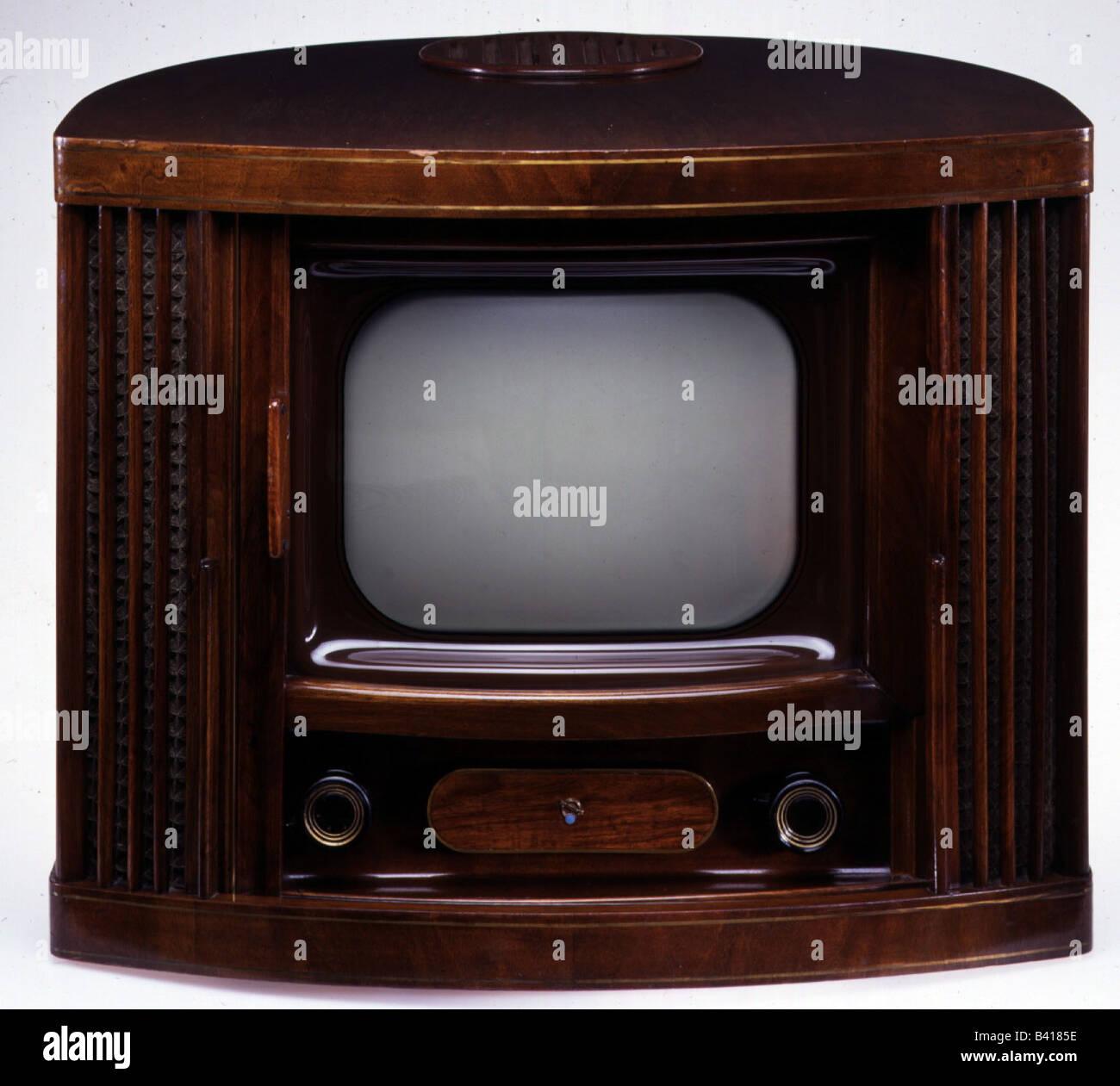 Rundfunk, Fernsehen, Fernseher, TV Blaupunkt V52, Deutschland, 1951, 50s, 50s, historischen, geschichtlichen, Art, Stockbild