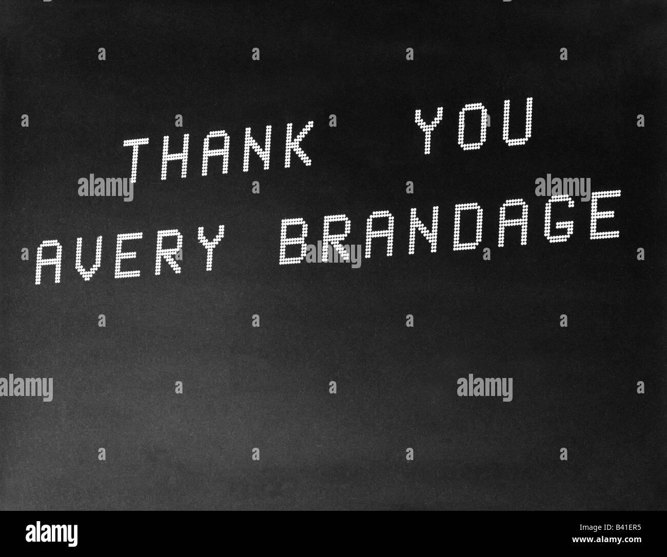 """Sport, die Olympischen Spiele, München, 26.8.1972 - 10.9.1972, letzter Tag, neon Schreiben """"Danke Avery Brandage', Stockfoto"""