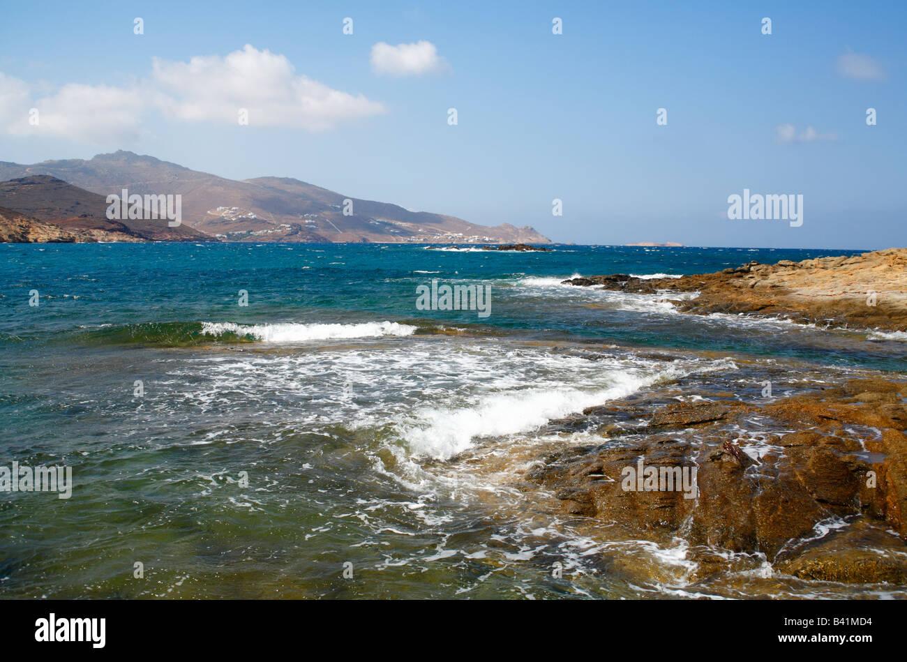 Panormos Bay Insel Mykonos Kykladen Griechenland Stockfoto