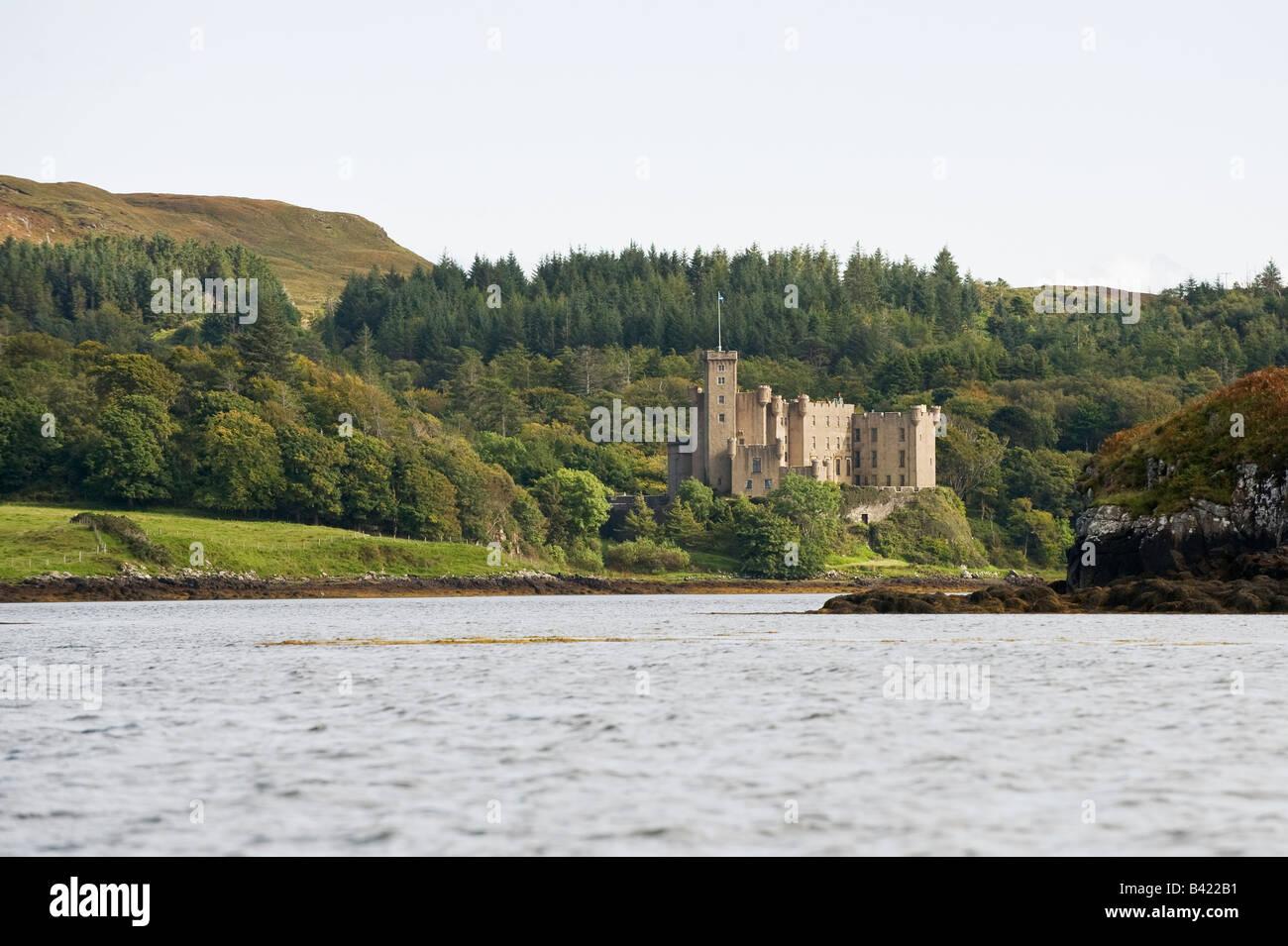Dunvegan Castle Skye Schottland Stockfoto