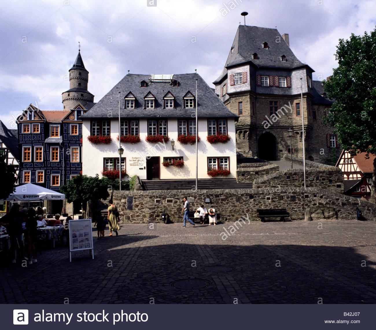 Geographie Reisen Deutschland Hessen Idstein Stadt Halle Mit