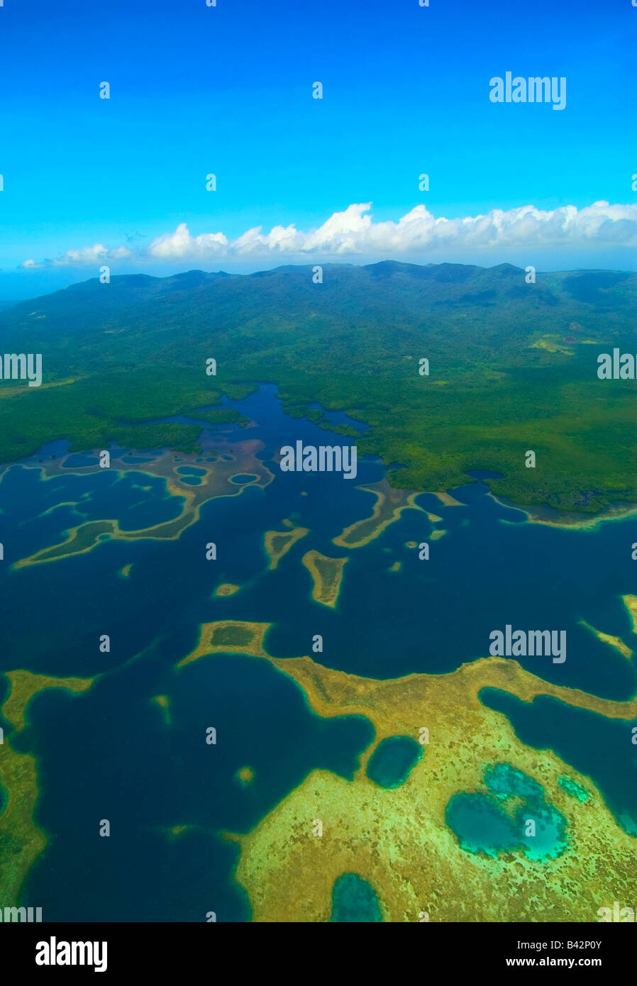 Blick auf Pohnpei Insel Karolinen Inseln Senyavin Pazifik Pohnpei Mikronesien Stockbild