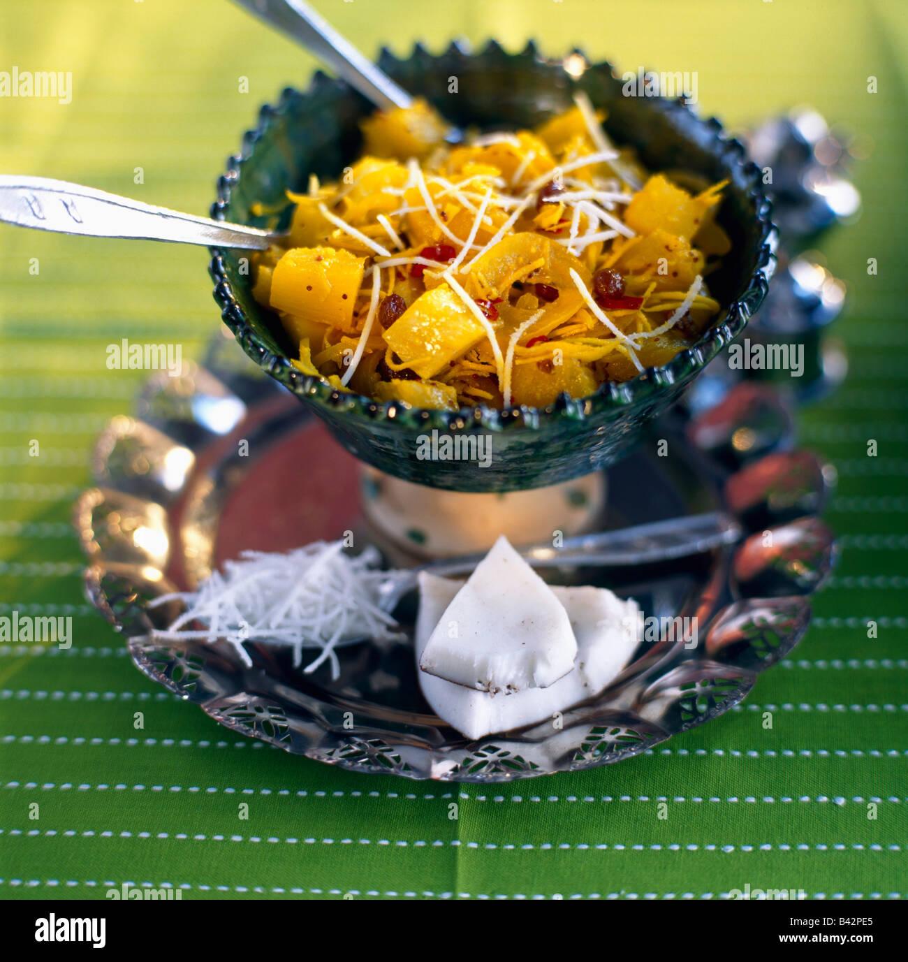 Ananas-curry Stockbild