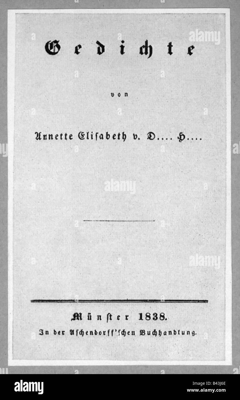 Annette Von Droste Huelshoff Deutscher Autorautorin 101