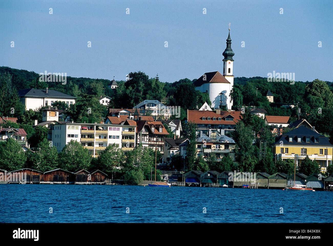 geographie reisen deutschland bayern starnberg blick auf die stadt stadtansicht. Black Bedroom Furniture Sets. Home Design Ideas
