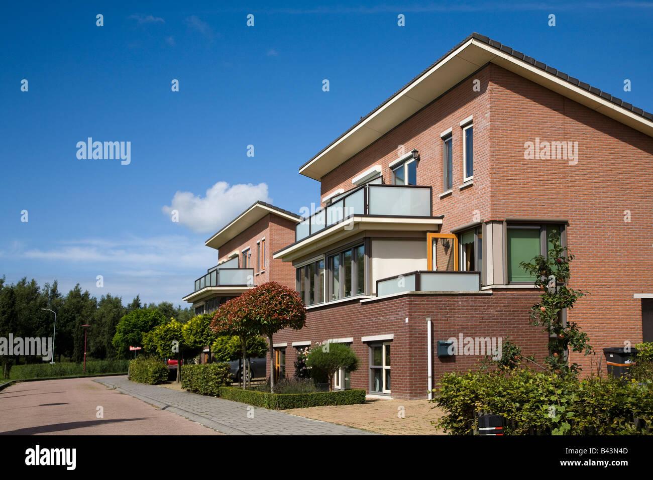 Moderne Huser Auf Lelystad Niederlande.