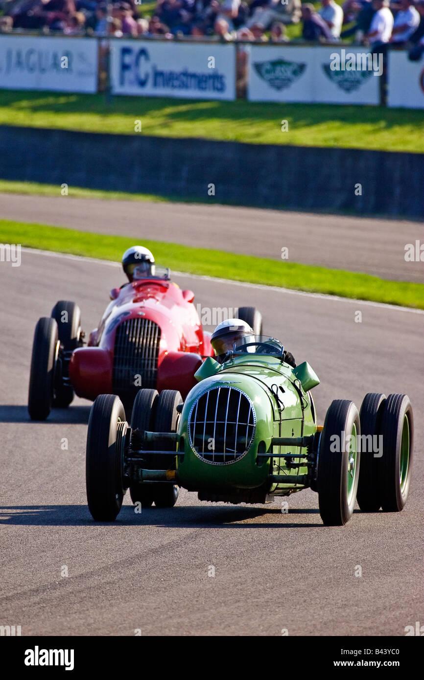Vor dem zweiten Weltkrieg 1938 Alta Wettbewerb Rennwagen auf dem Goodwood Revival 2008 West Sussex Großbritannien Stockbild
