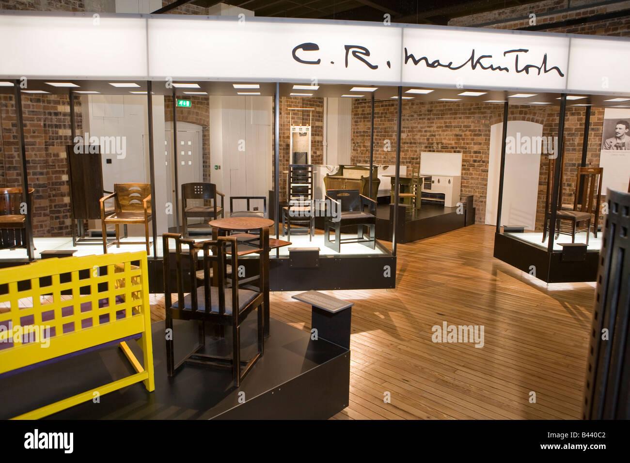 Exhibition Displays Glasgow : Mackintosh chair stockfotos bilder alamy