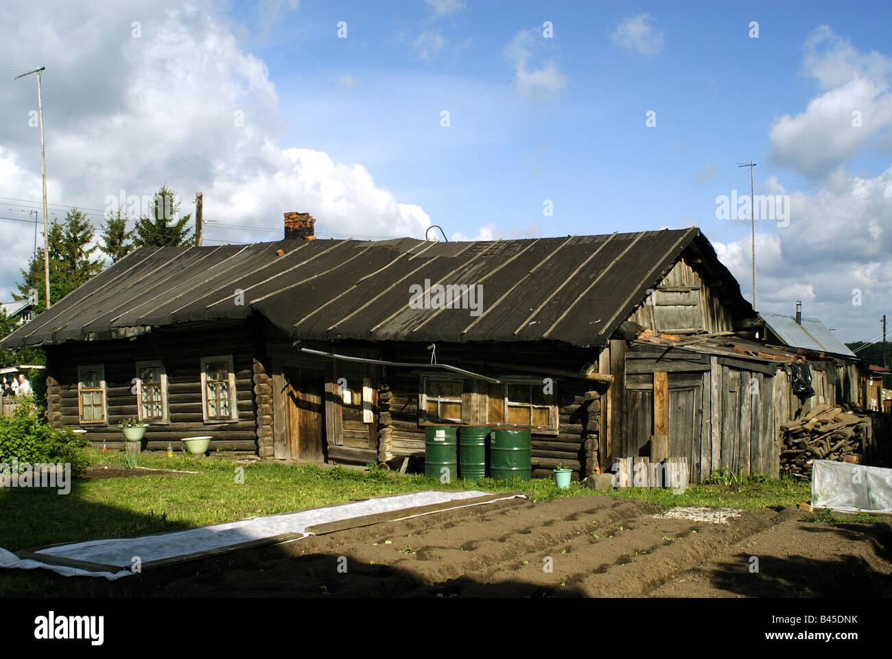Geographie/Reisen, Russland, Irma, Gebäude, Architektur, Berghütten, Außenansicht,, Additional-Rights Stockbild