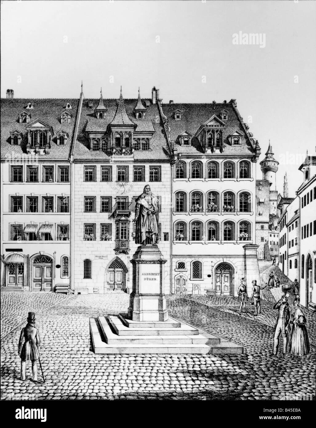 Dürer, Albrecht (1471-1528), deutscher Maler und Kupferstecher, deutscher Maler und Graveur, der Albrecht-Dürer Stockbild