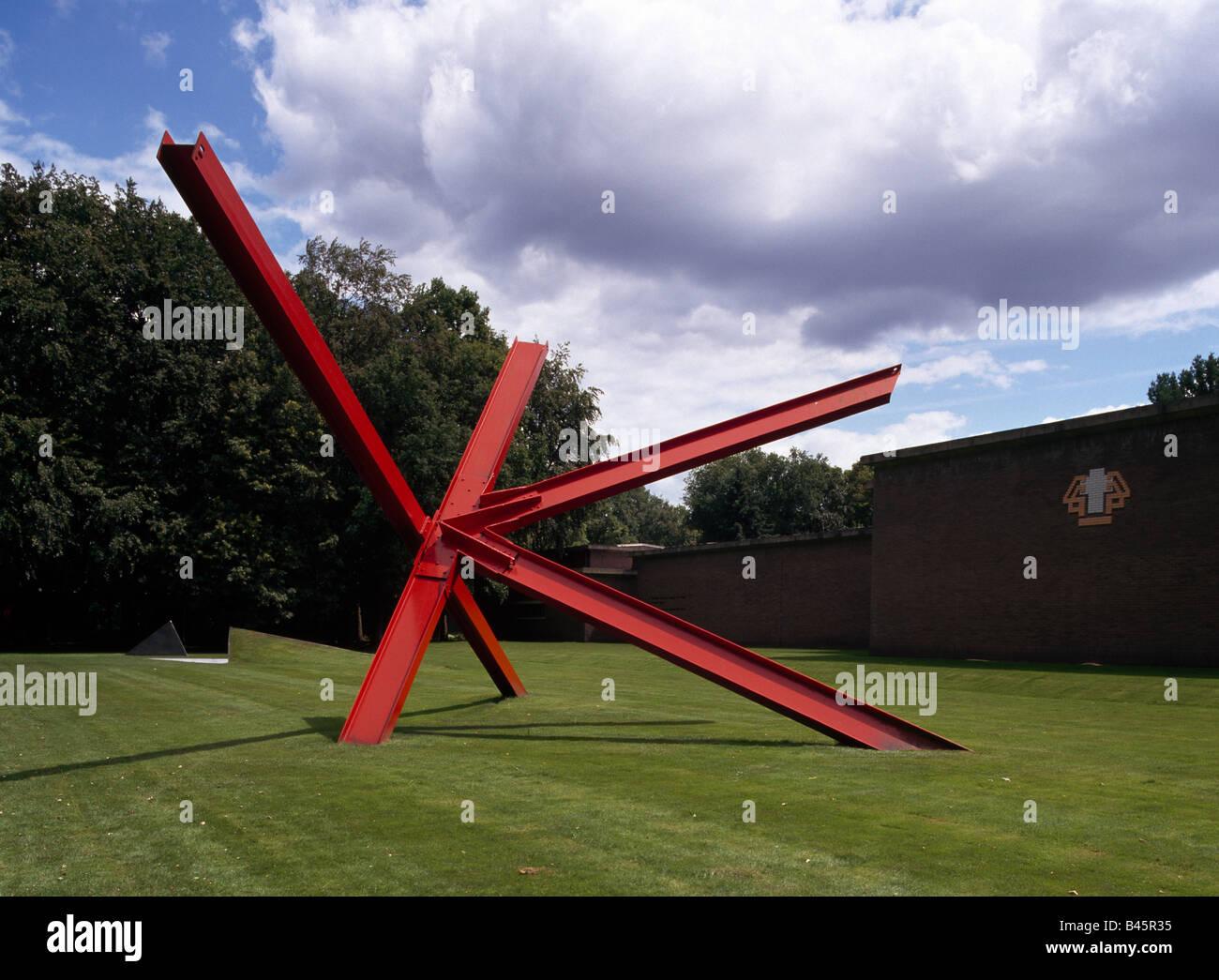 "Otterloo, Rijksmuseum Kröller-Müller, Skulpturenpark, '''K-Stücke'' Genannte Arbeit von Mark di Suveros "" Stockfoto"
