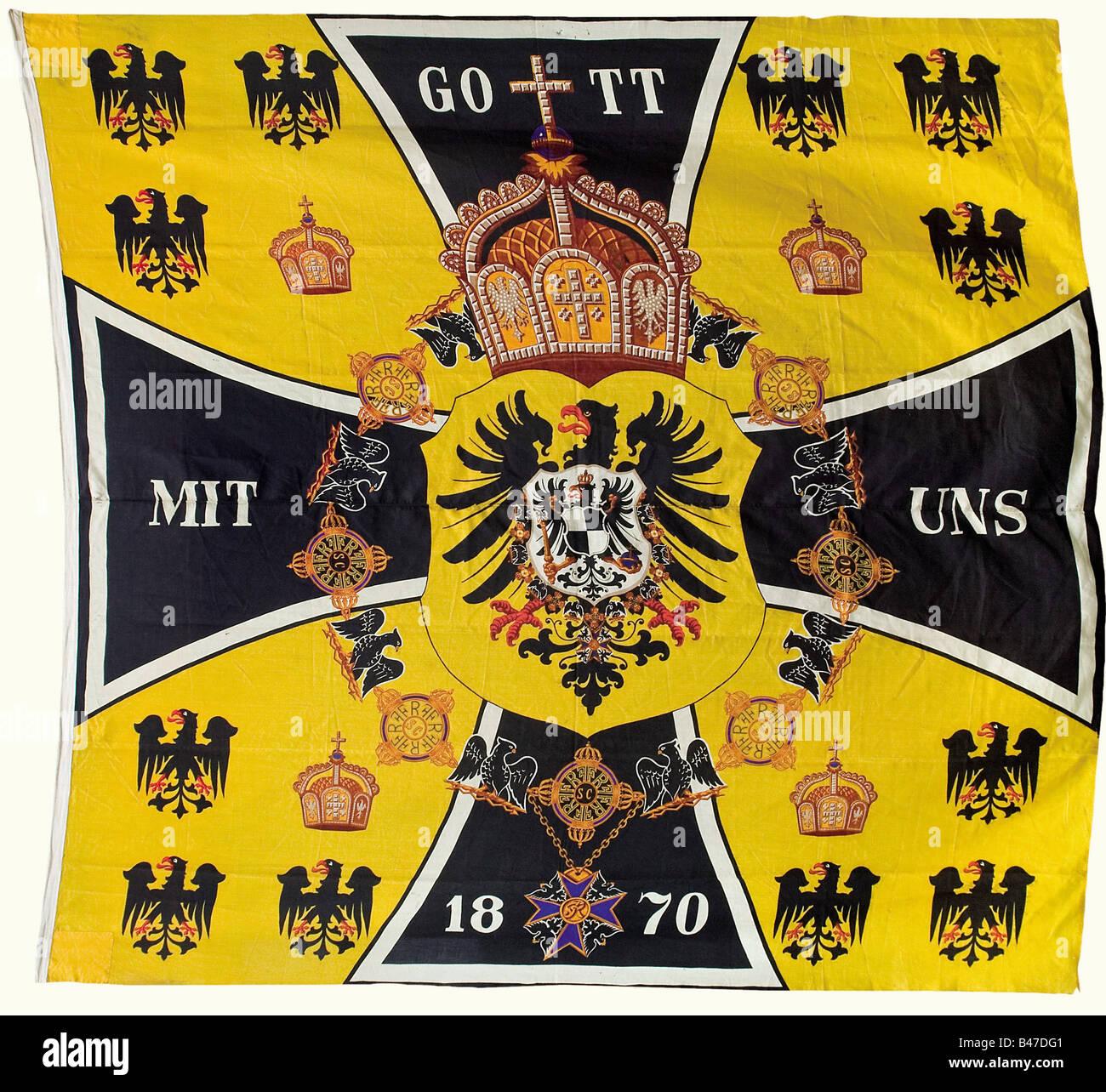 Ein Wimpel, der Kaiser's Präsenz., Marine banner Tuch in Farbe lackiert, komplett mit halyard und Bügeleisen Stockbild