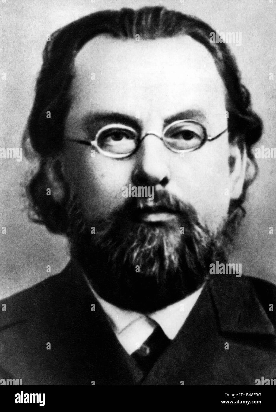 Tsiolkovsky, Konstantin Eduardovich, 17.9.1857 - 19.9.1935, russischer Physiker, Mathematikwissenschaftler, Porträt, Stockfoto