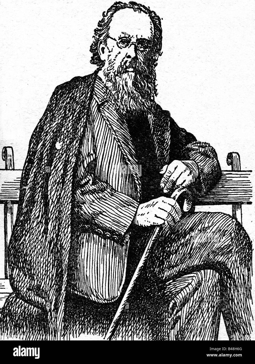 Tsiolkovsky, Konstantin Eduardovich, 17.9.1857 - 19.9.1935, russischer Physiker, Mathematikwissenschaftler und Wissenschaftler, Stockfoto