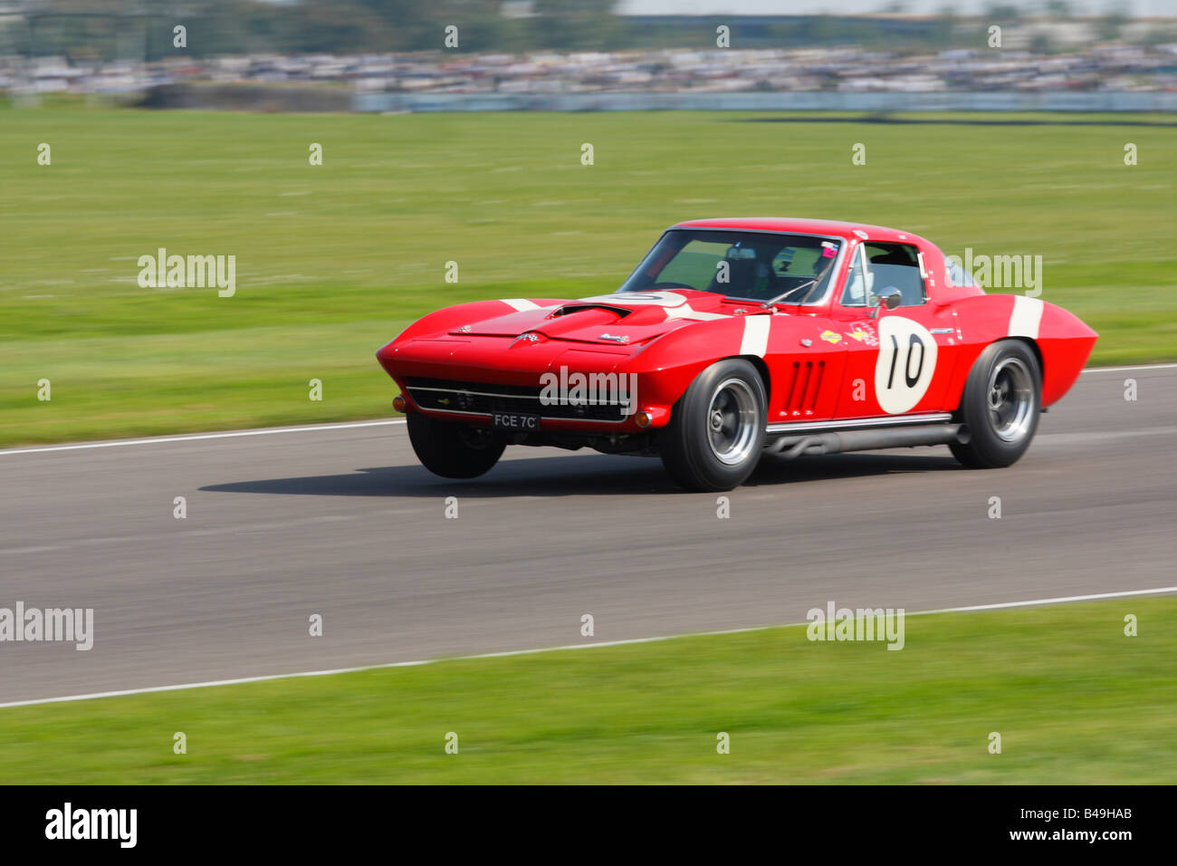 Chevrolet Corvette Stingray am Goodwood Revival meeting Stockbild